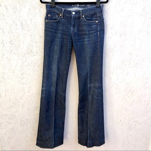 7 For All Mankind Dark Wash Dojo Wide Leg Jeans 26